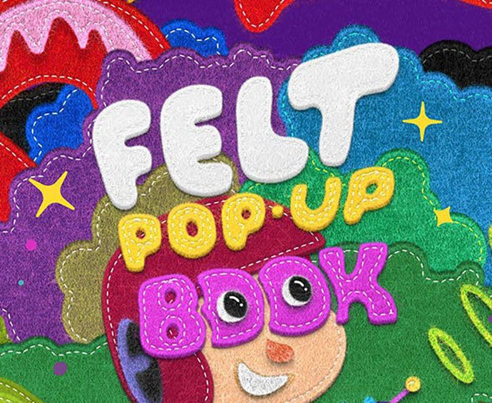 Felt-POP-UP-Book-Make - 36+ Amazing Fun & Playful Typography Photoshop Text Effects [year]