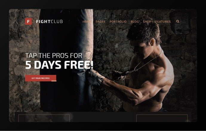 FightClub - 34+ Awesome WordPress Club Themes to Create Your Website [year]