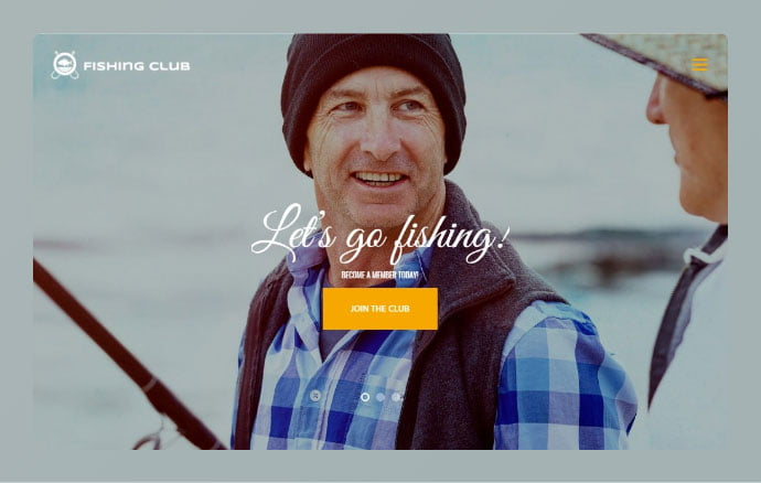 Fishing-and-Hunting-Club - 34+ Awesome WordPress Club Themes to Create Your Website [year]
