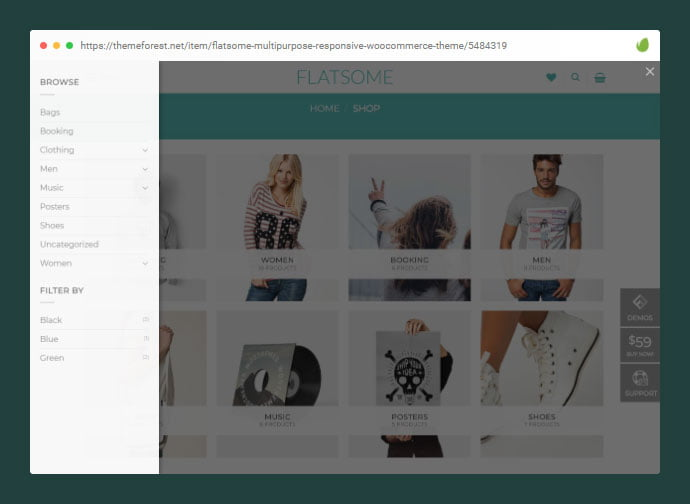 Flatsome - 36+ Great Product Filtering WordPress E-commerce Themes [year]