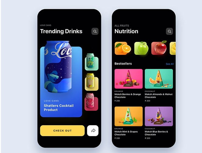 Food-and-drinks - 51+ Stunning Food & Drink Mobile App UI Design Sample [year]