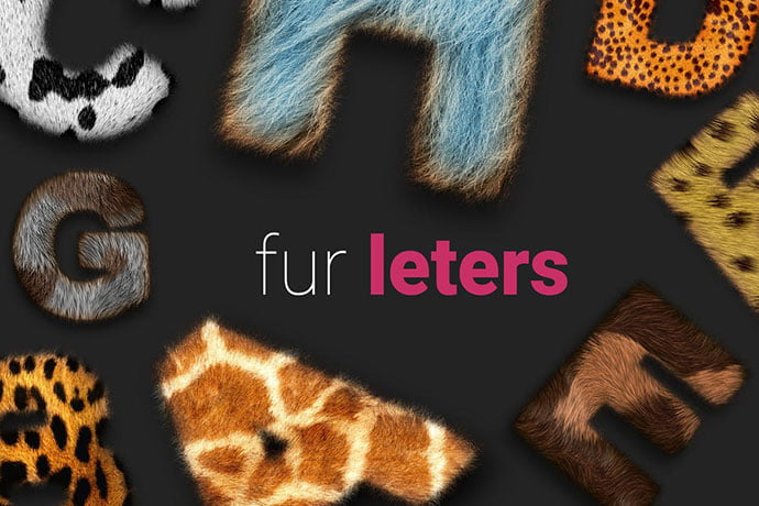 Fur-Styles - 36+ Amazing Fun & Playful Typography Photoshop Text Effects [year]