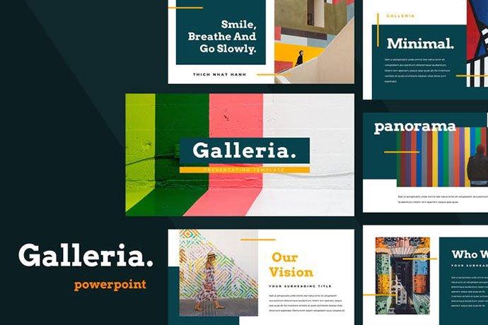 Galleria - 36+ Nice PowerPoint Portfolio Showcasing Templates [year]