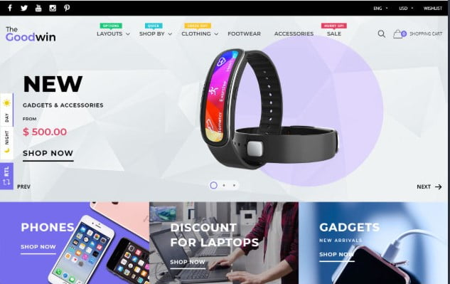 Goodwin - 35+ Friendly Responsive Dropshipping Shopify Theme [year]