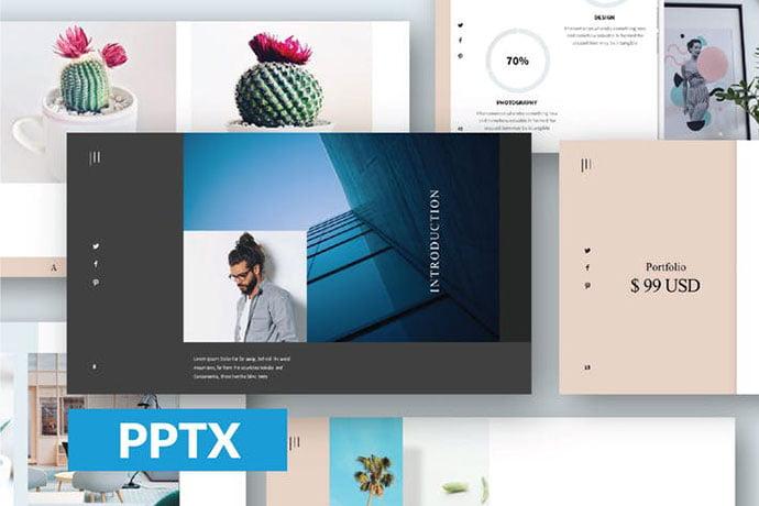 Gorgeous - 36+ Nice PowerPoint Portfolio Showcasing Templates [year]