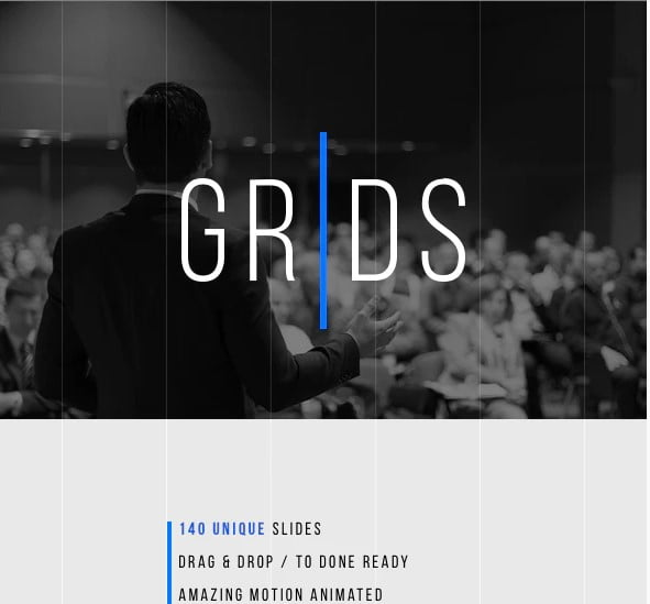 Grids-Minimal - 36+ Awesome Abstract PowerPoint Templates Download [year]