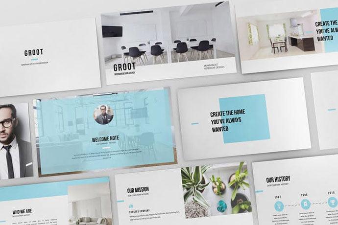Groot - 36+ Nice PowerPoint Portfolio Showcasing Templates [year]