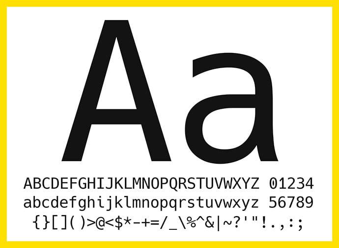 Hack - 36+ Fantastic Free Mono Fonts For Developer [year]
