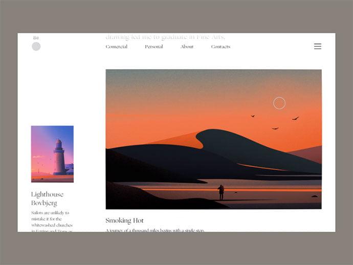Illustrator-Portfolio - 63+ Incredible Free Black & White Web UI Designs [year]