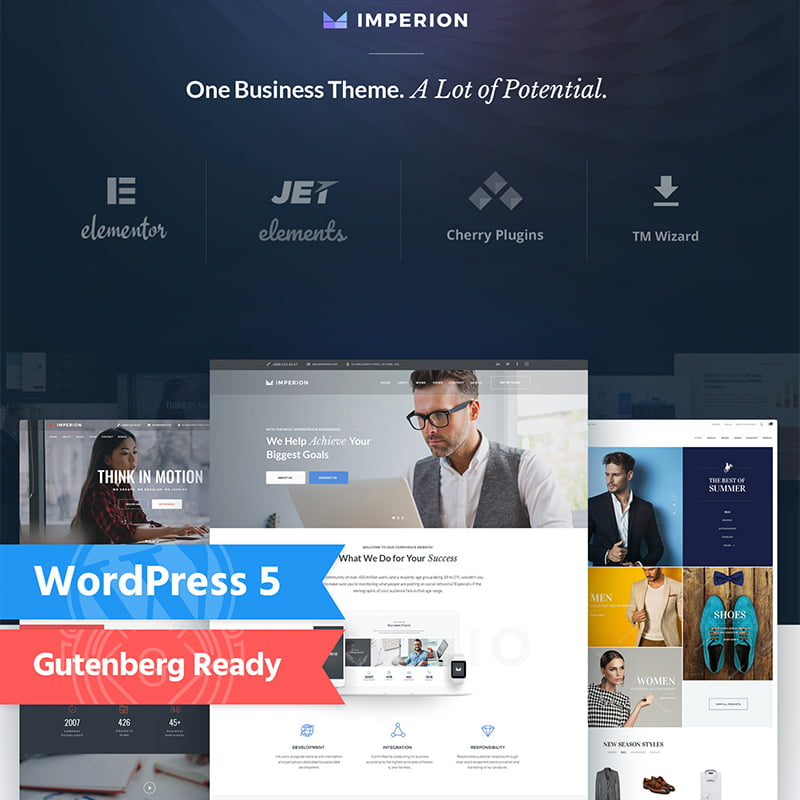 Imperion - Global Leader Together With These 10 Business WordPress Themes! [year]