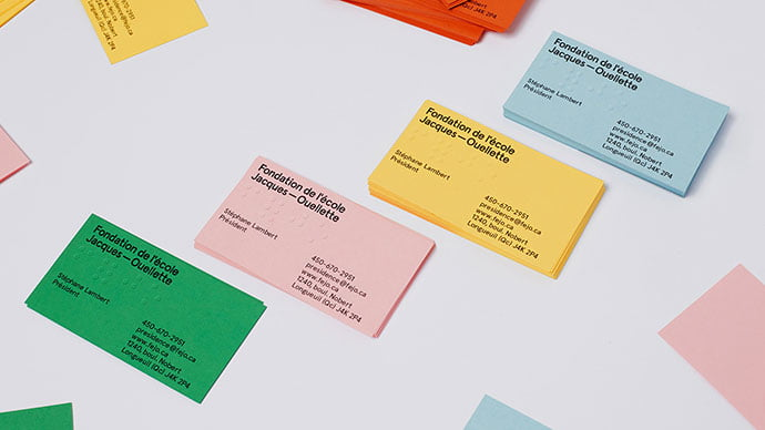 Jacques-ouellette-School-Foundation - 36+ Impressive Business Card Designs With Visual Impact [year]