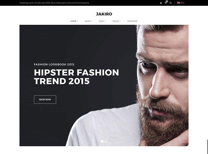 Jakiro - 34+ Impressive WordPress Minimal eCommerce Themes [year]