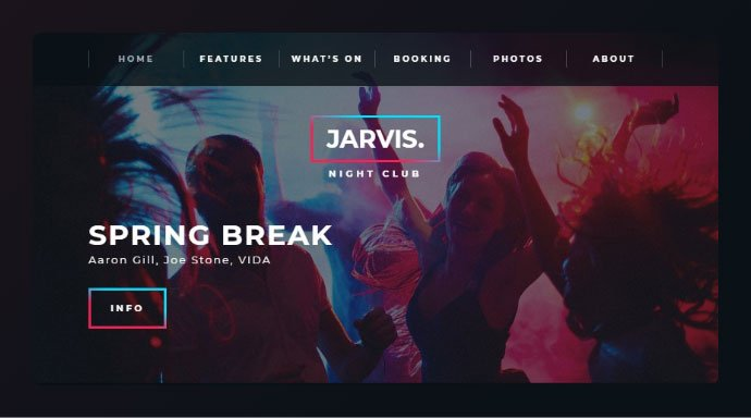 Jarvis - 34+ Awesome WordPress Club Themes to Create Your Website [year]