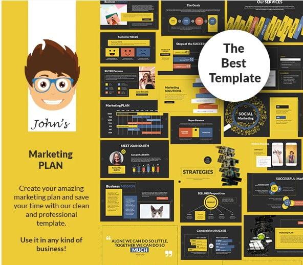 John's-Marketing - 36+ Powerful PowerPoint Marketing Templates [year]