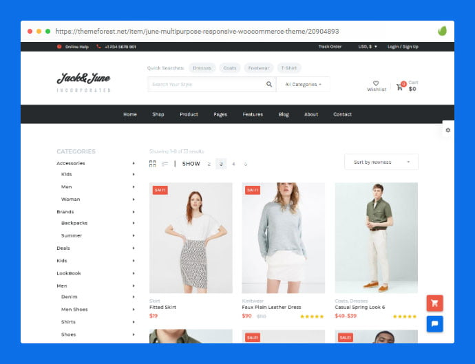 June - 36+ Great Product Filtering WordPress E-commerce Themes [year]