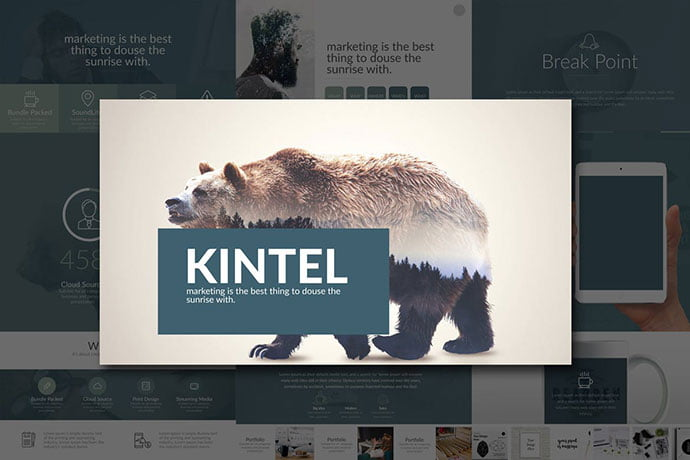Kintel - 36+ Nice PowerPoint Portfolio Showcasing Templates [year]
