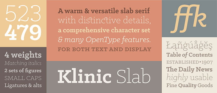 Klinic-Slab - 36+ Best Free Number Fonts For Graphic Designer [year]