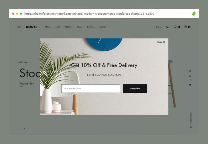 Konte - 36+ Important WordPress Ecommerce Themes For Popup Designs [year]