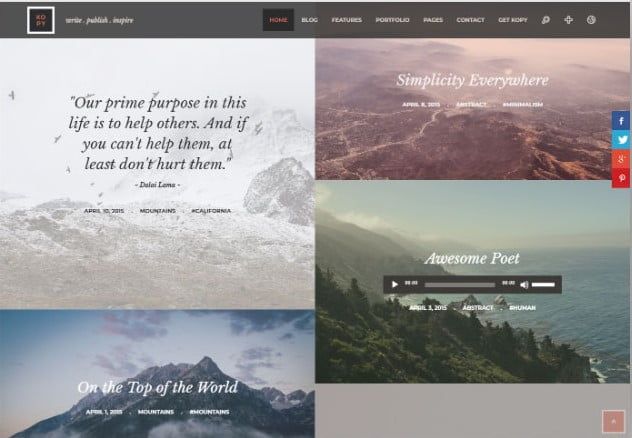 Kopy-WP - 37+ Nice WordPress Photography Blog Themes [year]