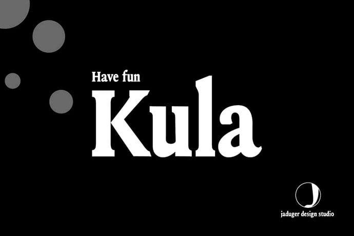 Kula - 35+ Impressive Serif Fonts For Designer [year]
