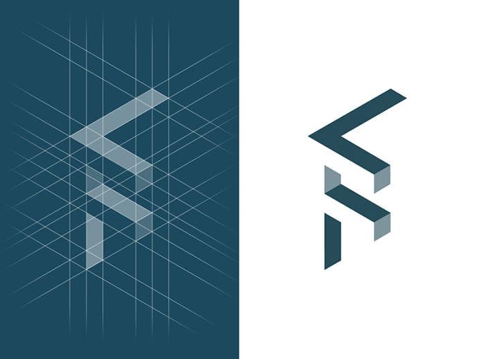 LF-construction-grid - 38+ Lovely Isometric Logo Design Sample [year]
