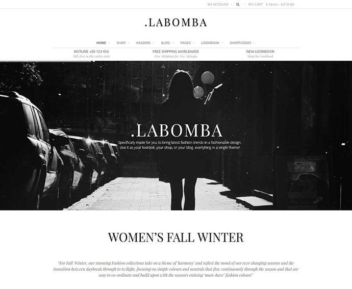 Labomba - 34+ Impressive WordPress Minimal eCommerce Themes [year]