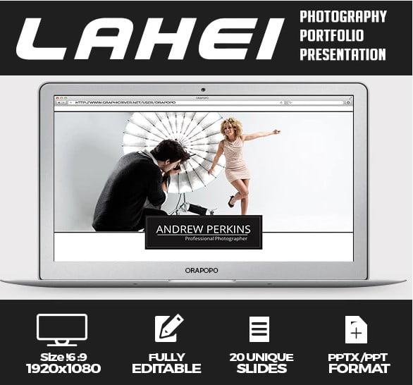 Lahei - 36+ Nice PowerPoint Portfolio Showcasing Templates [year]
