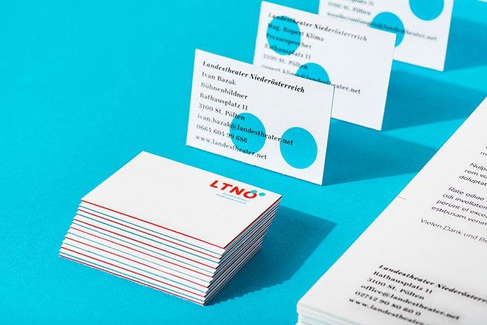 Landestheater-Niederosterreich - 36+ Impressive Business Card Designs With Visual Impact [year]