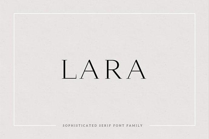 Lara - 35+ Impressive Serif Fonts For Designer [year]