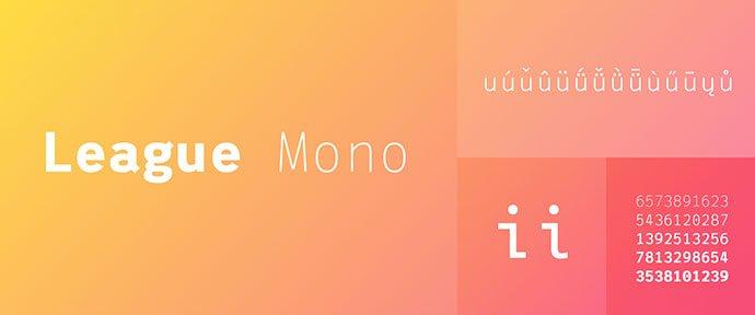 League-Mono - 36+ Fantastic Free Mono Fonts For Developer [year]
