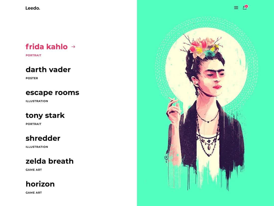 Leedo - 31+ Amazing Artists WordPress Themes [year]