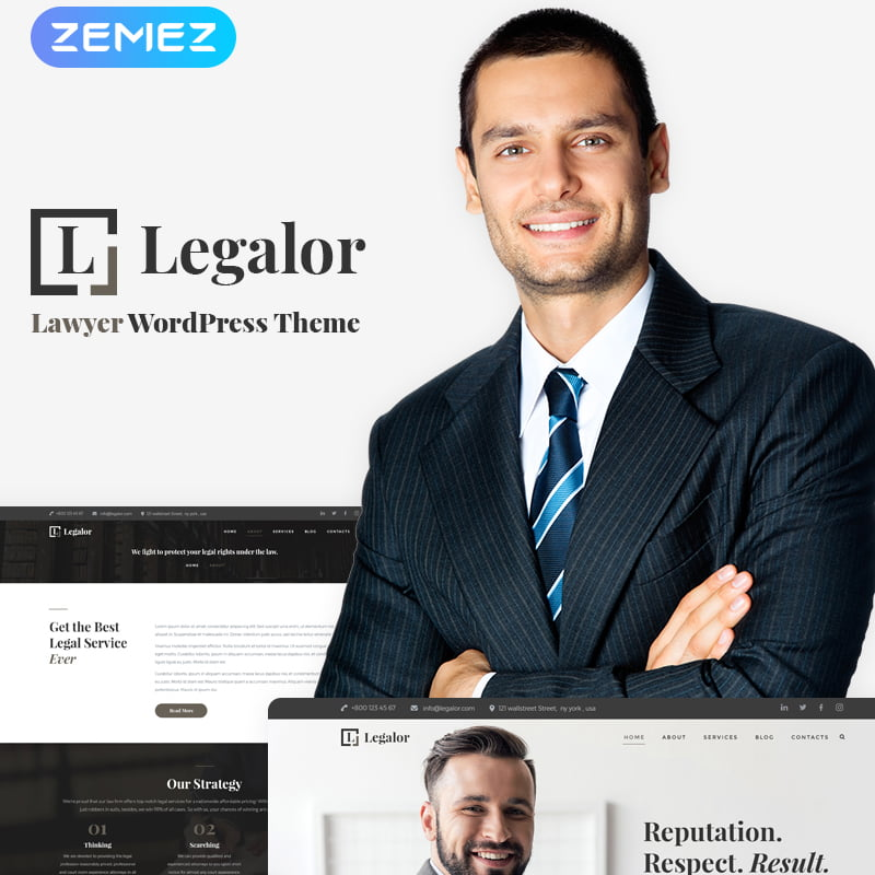 Legalor - Global Leader Together With These 10 Business WordPress Themes! [year]