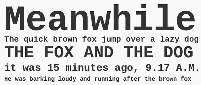 Liberation-Mono-font - 36+ Fantastic Free Mono Fonts For Developer [year]