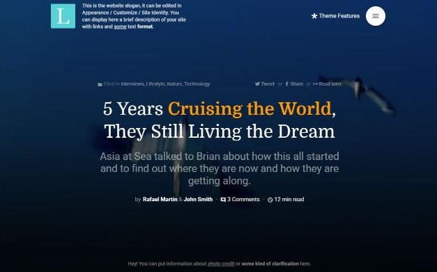 Literatum - 37+ Nice WordPress Photography Blog Themes [year]