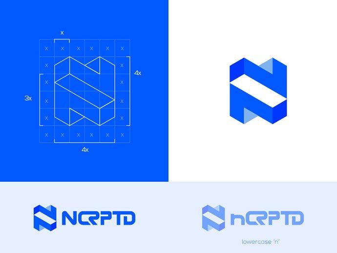 Logo-Encrypted-Digital-security - 38+ Lovely Isometric Logo Design Sample [year]