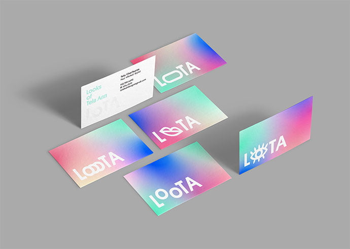 Looks-Of-Tela-Ann - 36+ Impressive Business Card Designs With Visual Impact [year]