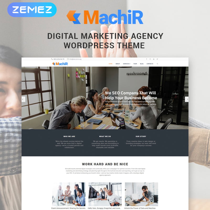 Machir - Global Leader Together With These 10 Business WordPress Themes! [year]