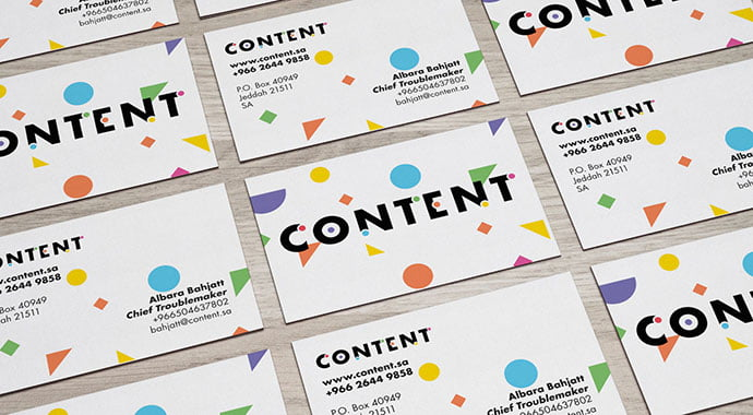 Making-Content-Beautiful - 36+ Impressive Business Card Designs With Visual Impact [year]