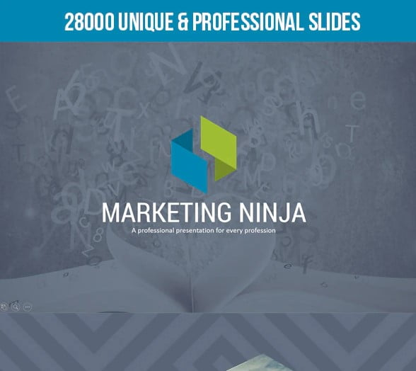 Marketing-Ninja - 36+ Powerful PowerPoint Marketing Templates [year]
