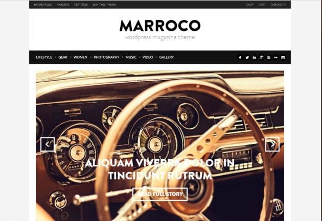 Marroco - 37+ Nice WordPress Photography Blog Themes [year]