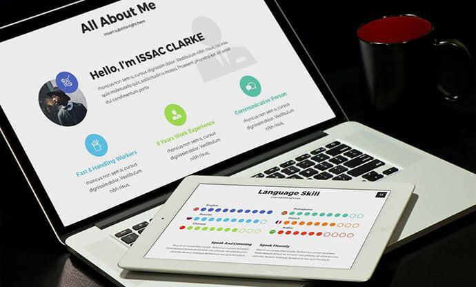Mea - 36+ Nice PowerPoint Portfolio Showcasing Templates [year]