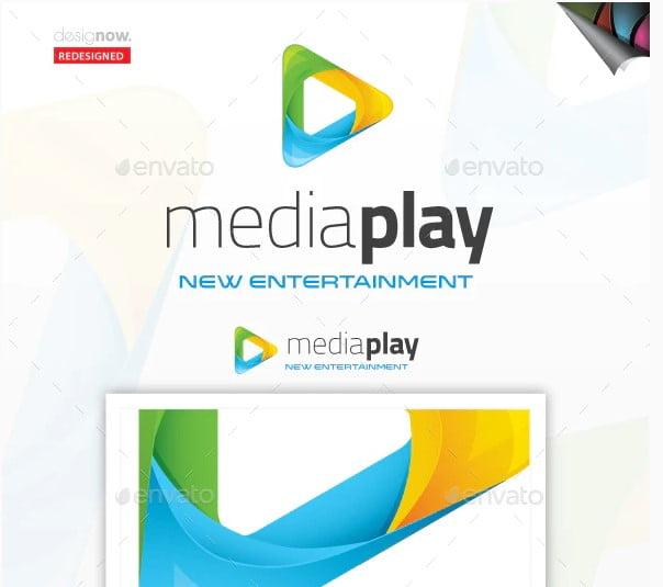 Media-Play-Logo - 38+ Lovely Isometric Logo Design Sample [year]