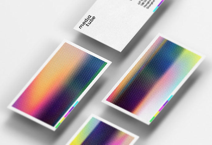 Media-Tube-Visual-Identity - 36+ Impressive Business Card Designs With Visual Impact [year]