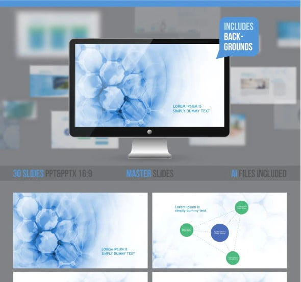 Medical-Professional - 36+ Awesome Abstract PowerPoint Templates Download [year]