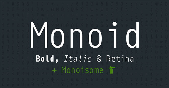 Monoid - 36+ Fantastic Free Mono Fonts For Developer [year]