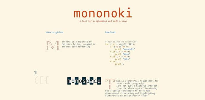 Mononoki - 36+ Fantastic Free Mono Fonts For Developer [year]