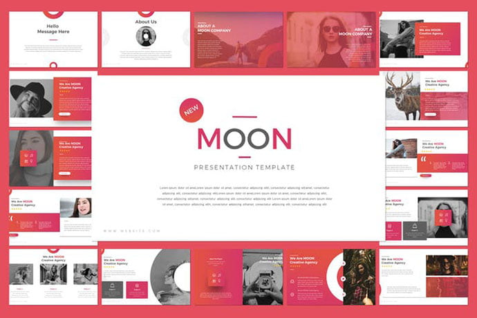Moon - 36+ Nice PowerPoint Portfolio Showcasing Templates [year]