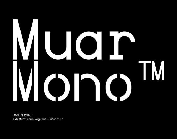 Muar-Mono - 36+ Fantastic Free Mono Fonts For Developer [year]