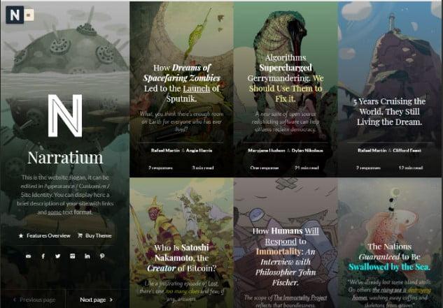 Narratium - 37+ Nice WordPress Photography Blog Themes [year]