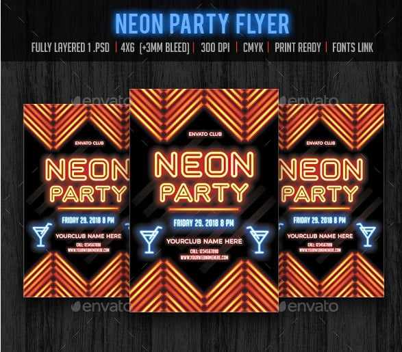 Neon-Party - 36+ Fantastic Free Mono Fonts For Developer [year]